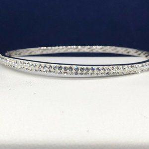 Artistique St. Silver Crystal Bangle Bracelet $275